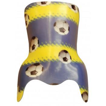 Ballons de soccer - bleu/jaune