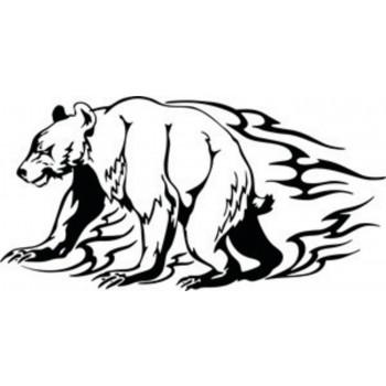 Tatouage ours en flammes