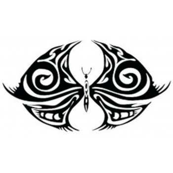 Tatouage papillon en flammes