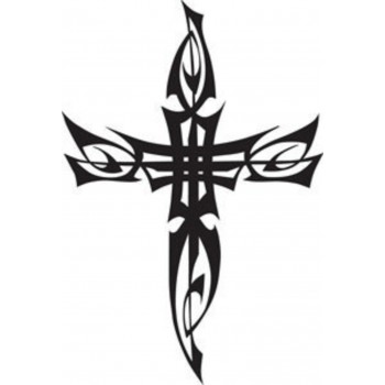 Tatouage croix tribale 1