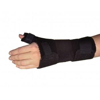 Baleine dorsale pour l'orthèse d'extension du poignet avec support de pouce