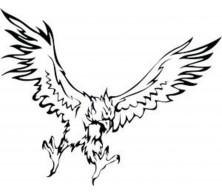 Tatouage aigle en flammes