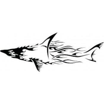 Tattoo Shark Flames