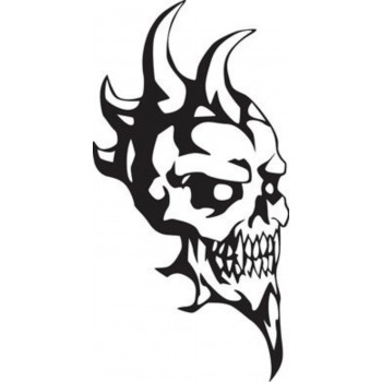 Tattoo Skull With Horns